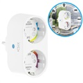 Prise Murale WiFi Ksix Smart Energy Duo - 2x CA - Android, iOS