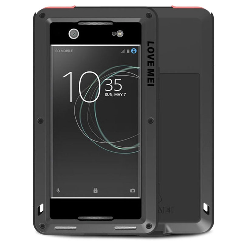 coque love mei powerful pour sony xperia xa1 ultra noire. Black Bedroom Furniture Sets. Home Design Ideas