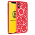 Coque en TPU iPhone X / iPhone XS MSVII Flower - Rouge