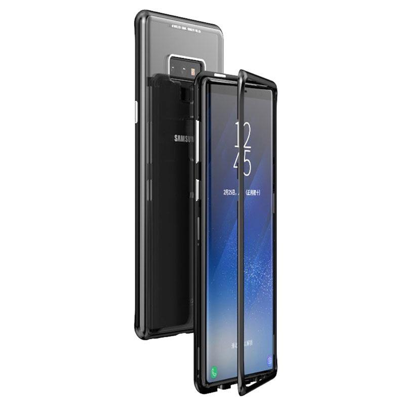 Coque Magnétique Samsung Galaxy Note9 avec Dos en Verre Trempé