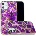 Coque TPU Marble Pattern Galvanisé IMD pour iPhone 12
