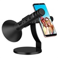 Momax Kmic Pro Wireless Karaoke Microphone with Smartphone Holder - Black