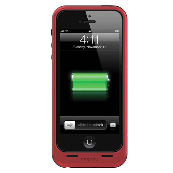 coque avec batterie int gr e mophie juice pack air pour iphone 5 5s se rouge. Black Bedroom Furniture Sets. Home Design Ideas