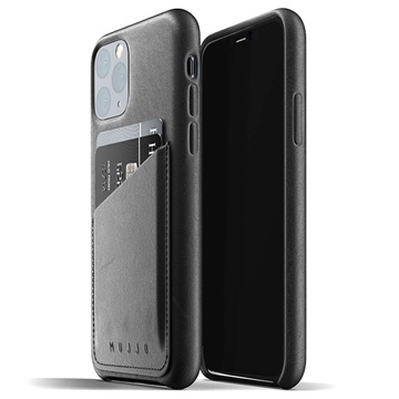 Coque en Cuir iPhone 11 Pro Mujjo Full Wallet