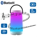 Haut-Parleur Bluetooth LED Multicolore NewRixing NR-2000 - Blanc
