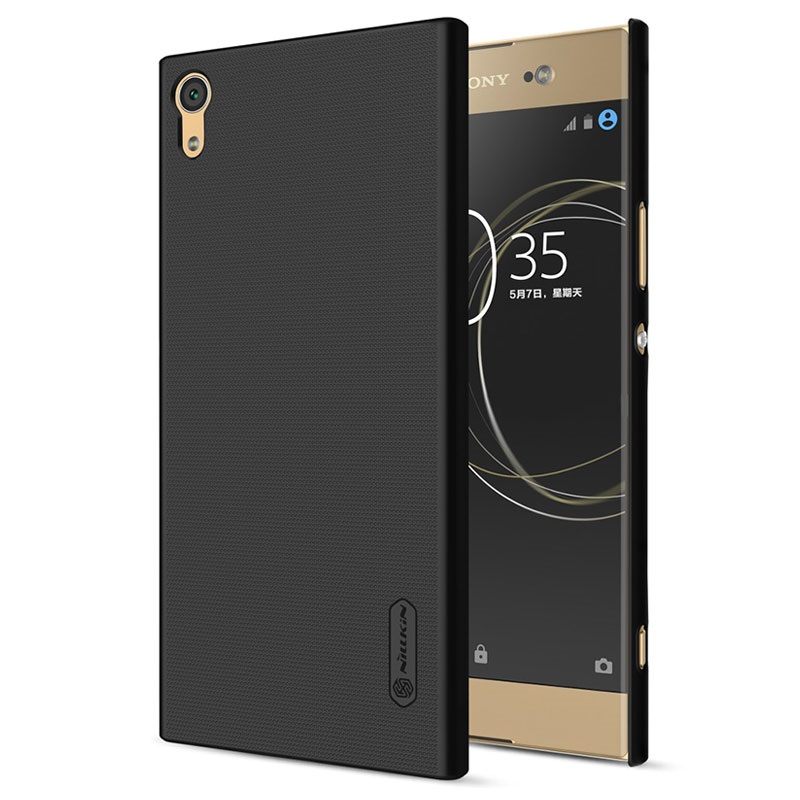 coque nillkin super frosted shield pour sony xperia xa1 ultra noire. Black Bedroom Furniture Sets. Home Design Ideas