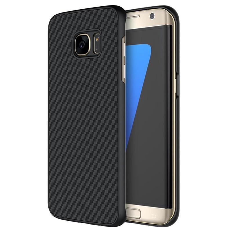 best cheap 1d9a2 cf436 Samsung Galaxy S7 Edge Nillkin Carbon Fiber Case - Black