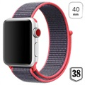 Bracelet Apple Watch Series 5/4/3/2/1 Nylon - 40mm, 38mm - Rouge