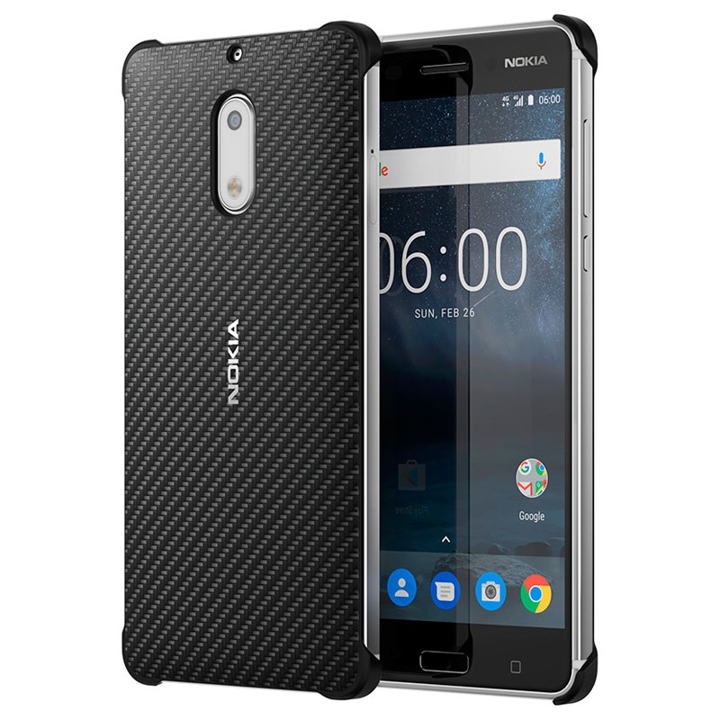 coque carbon fibre design cc 802 pour nokia 6 noire. Black Bedroom Furniture Sets. Home Design Ideas