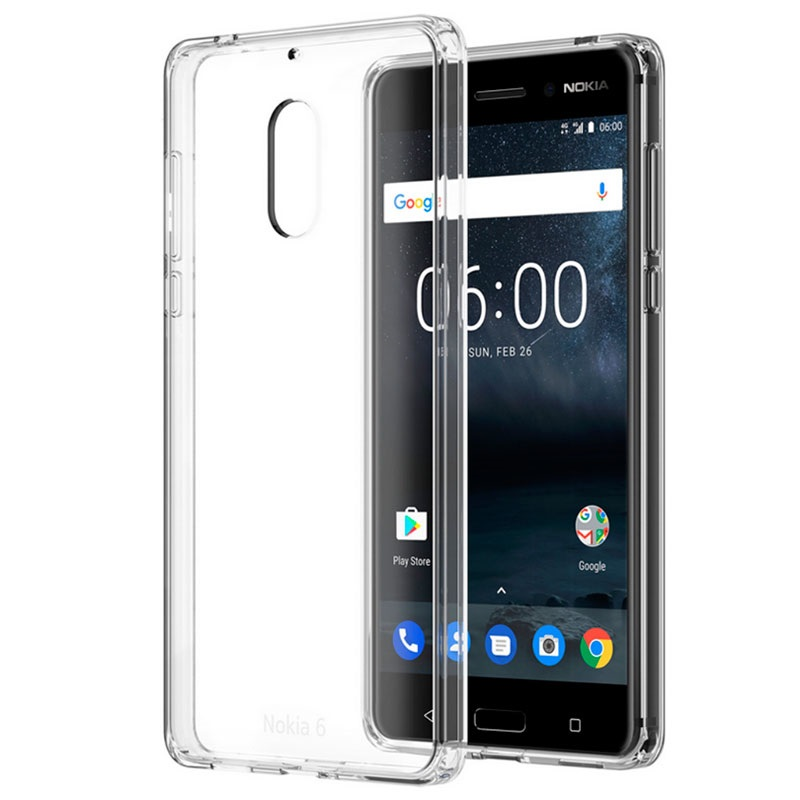 coque hybride cristalline cc 703 pour nokia 6 transparente. Black Bedroom Furniture Sets. Home Design Ideas