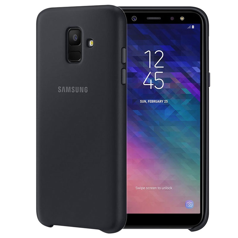 coque samsung galaxy a6 2018 double protection ef pa600cbegww noire. Black Bedroom Furniture Sets. Home Design Ideas