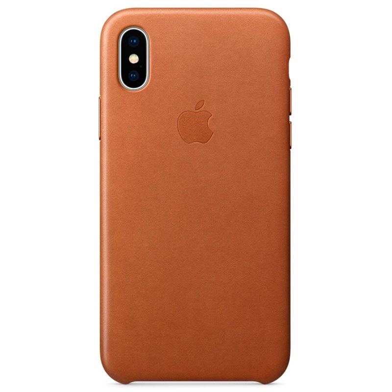 coque en cuir apple pour iphone x mqta2zm a marron. Black Bedroom Furniture Sets. Home Design Ideas