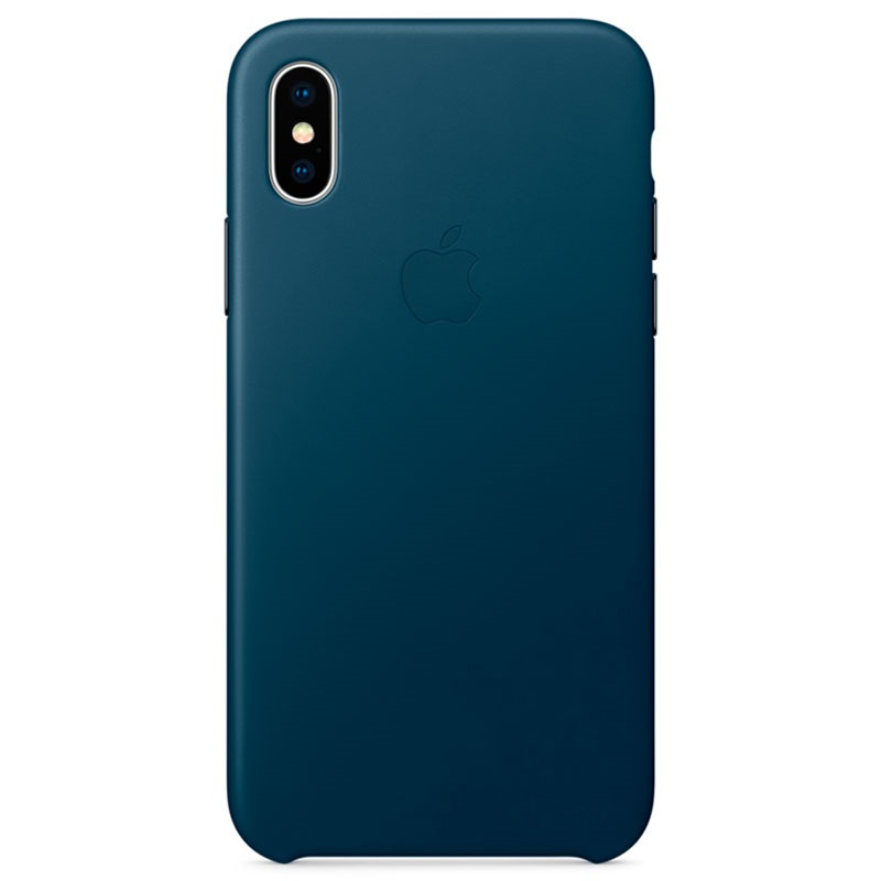 coque en cuir apple pour iphone x mqth2zm a bleu cosmos. Black Bedroom Furniture Sets. Home Design Ideas