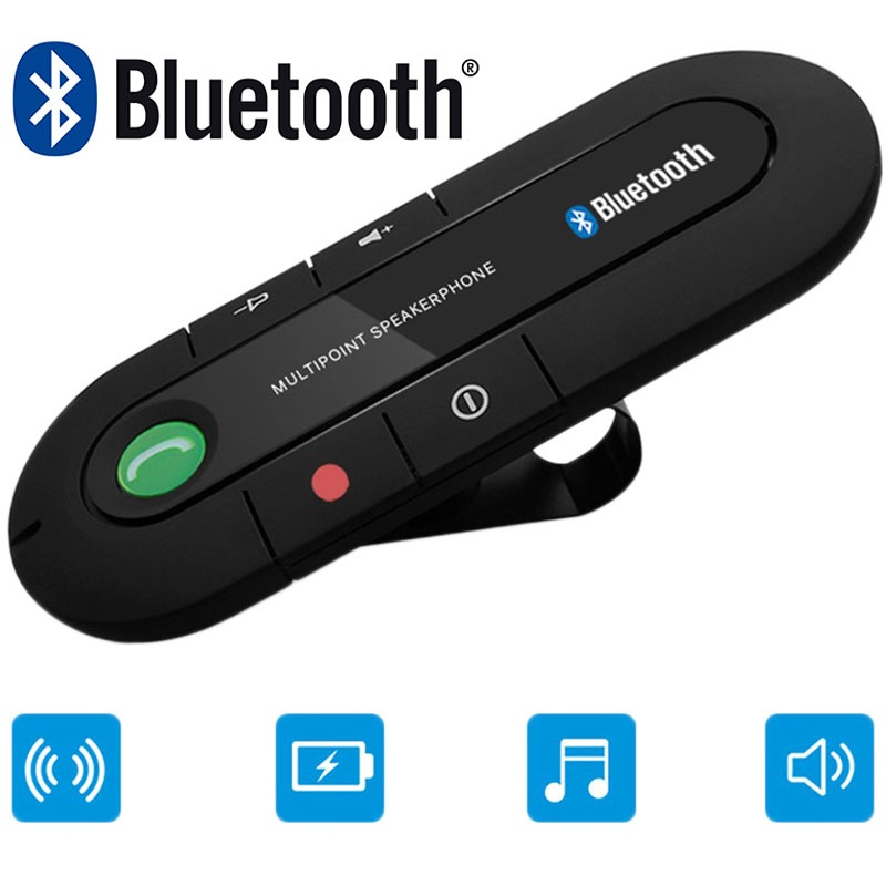 Kit Voture Bluetooth Portable - Support Pare-soleil - Noir