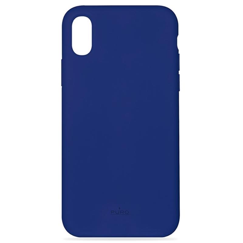 iphone xs coque silicone bleu
