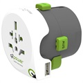Q2Power QDAPTER Universal USB World Travel Adapter - 10A