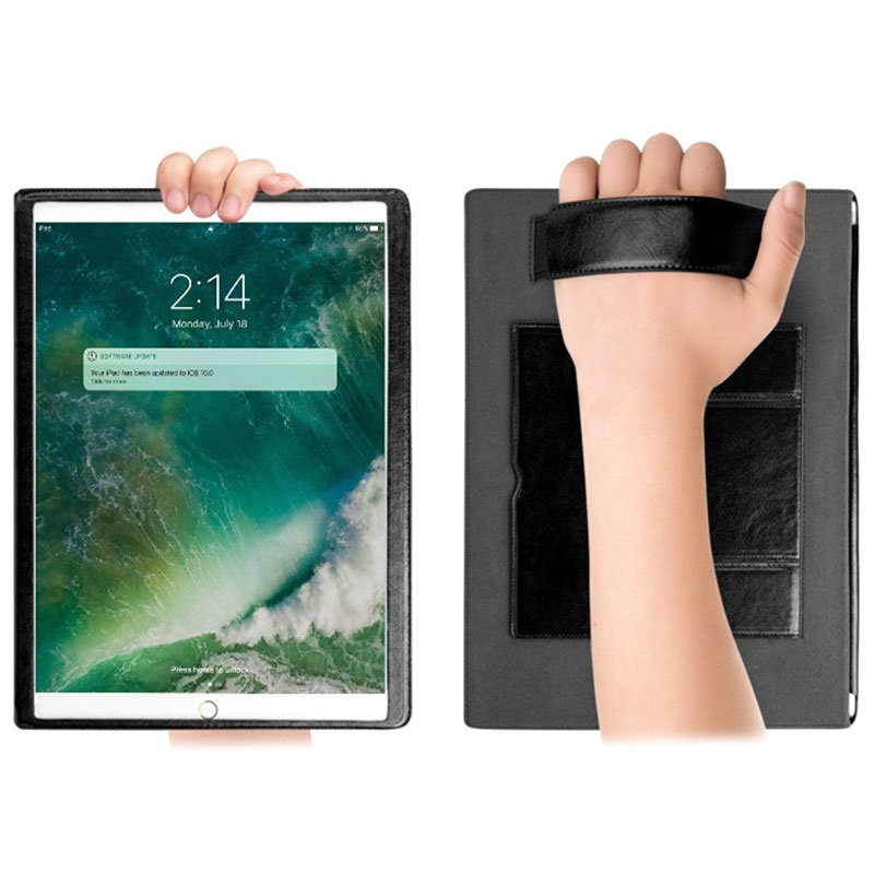 etui folio smart en cuir qialino classic ipad pro 10 5 noir. Black Bedroom Furniture Sets. Home Design Ideas
