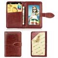 Retro Style Universal Stick-On Wallet for Smartphones - Brown