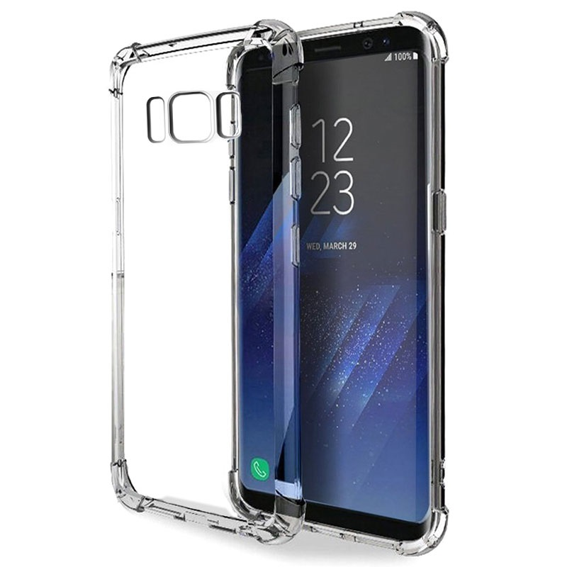 Coque Hybride Samsung Galaxy S8 Résistante aux Rayures - Transparente