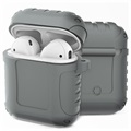 Étui AirPods / AirPods 2 en Silicone - Shockproof Armor - Gris