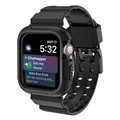 Bracelet & Coque Apple Watch Series 4 en Silicone - 44mm - Noir