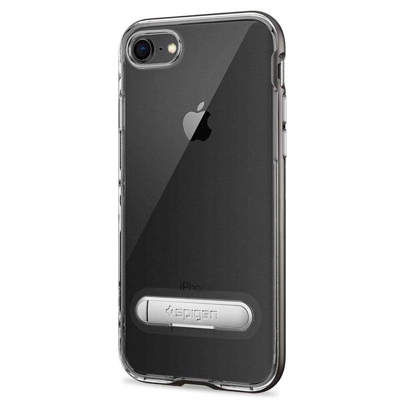 coque spigen crystal hybrid pour iphone 7 iphone 8 gris fonc. Black Bedroom Furniture Sets. Home Design Ideas