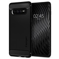 Coque Samsung Galaxy S10+ Spigen Rugged Armor - Noir