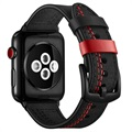 Bracelet Apple Watch Series 5/4/3/2/1 en Cuir Cousu - 42mm, 44mm - Noir