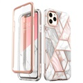 Coque Hybride iPhone 11 Pro Supcase Cosmo - Marbre Rose
