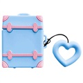 Sweet Suitcase Series AirPods / AirPods 2 Silicone Case - Blue