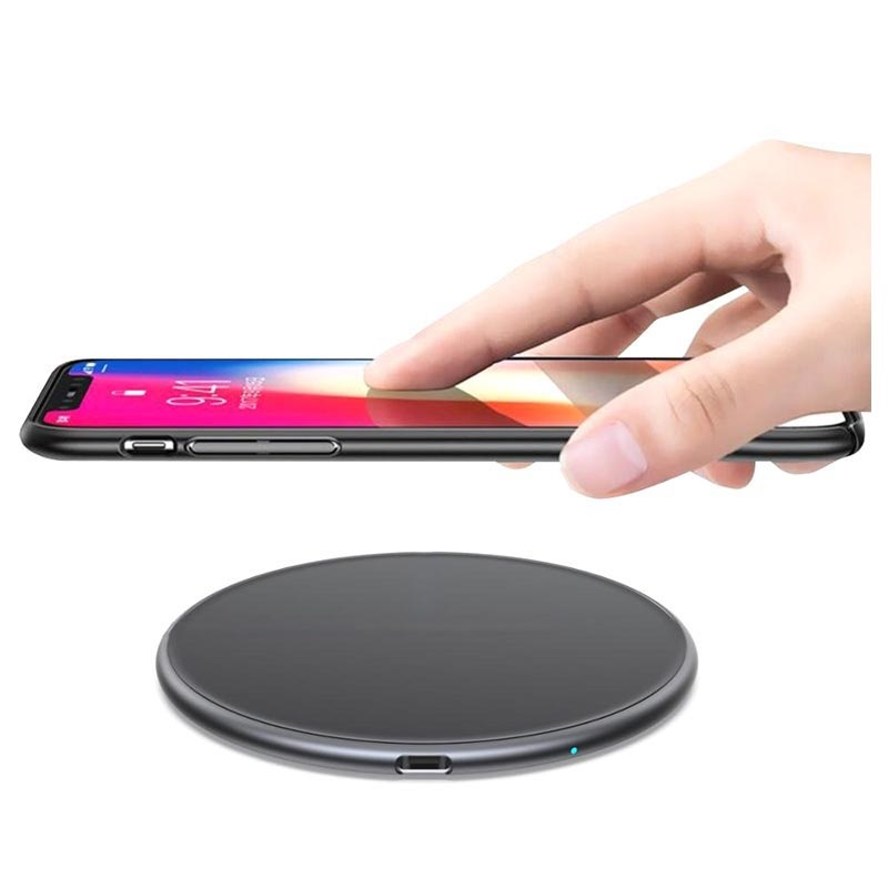 Universal Fast Wireless Charger - 15W - Black