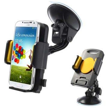 support voiture universel pour smartphone tablette jaune noir. Black Bedroom Furniture Sets. Home Design Ideas