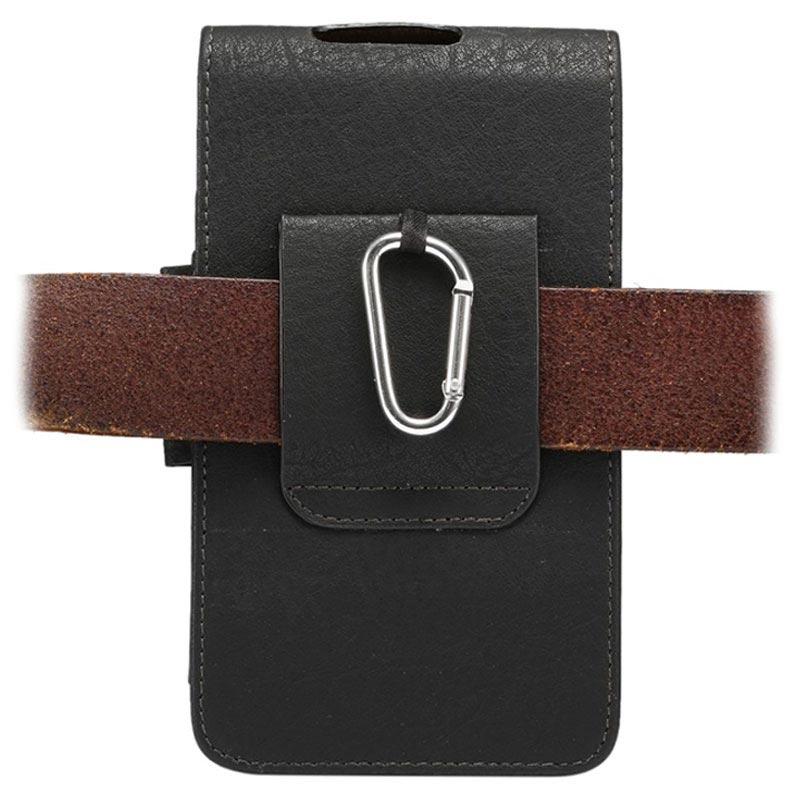 tui porte cartes vertical universel avec clip ceinture noir. Black Bedroom Furniture Sets. Home Design Ideas