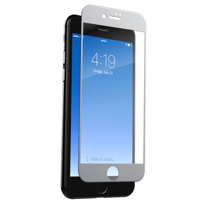 protecteur d 39 cran zagg invisibleshield glass contour pour iphone 7 plus blanc. Black Bedroom Furniture Sets. Home Design Ideas
