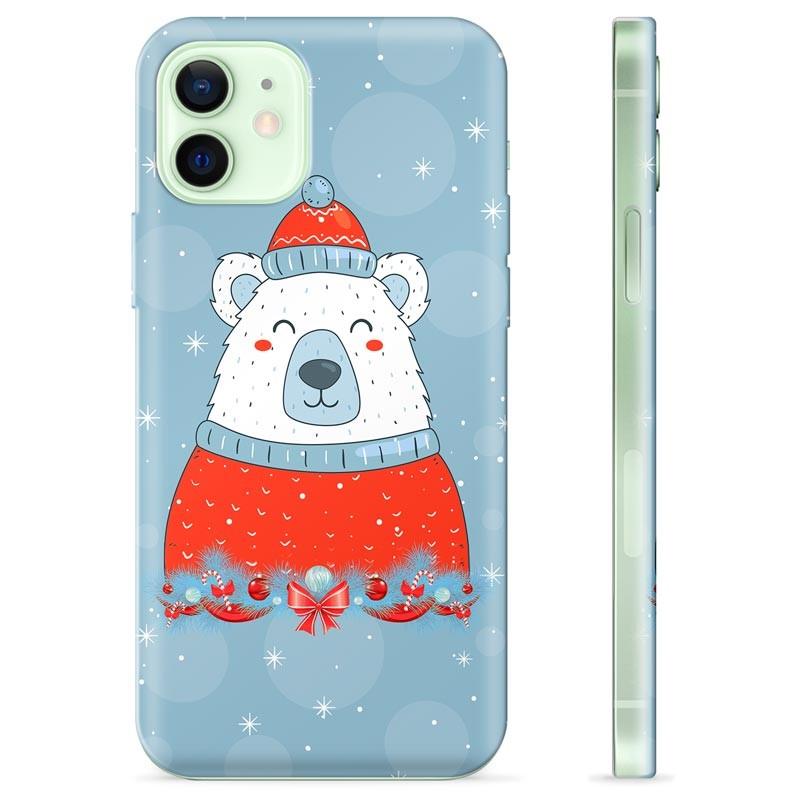 Coque iPhone 12 en TPU - Ours de Noël