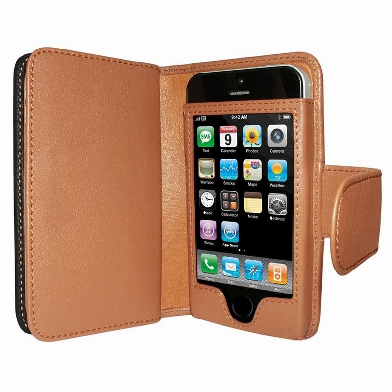 tui portefeuille en cuir piel frama pour iphone 5 5s se noir brun clair. Black Bedroom Furniture Sets. Home Design Ideas