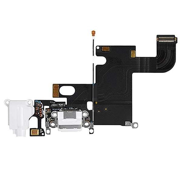 nappe du connecteur de charge pour iphone 6 blanc. Black Bedroom Furniture Sets. Home Design Ideas