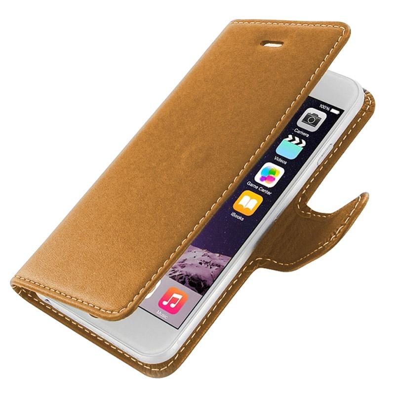 Housse en cuir pdair pour iphone 6 np3tipp6b41 marron for Housse cuir iphone 6