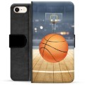 Étui Portefeuille Premium iPhone 7 / iPhone 8 - Basket-ball