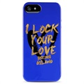 Coque TPU Puro Just Cavalli pour iPhone 5 / 5S / SE - Bleue