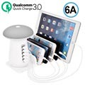 Station de Charge Qualcomm QC 3.0 2-en-1 & Lampe LED Champignon UD08