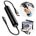 Câble Lightning / Powerbank 2500mAh Baseus Energy 2-en-1 - Noir