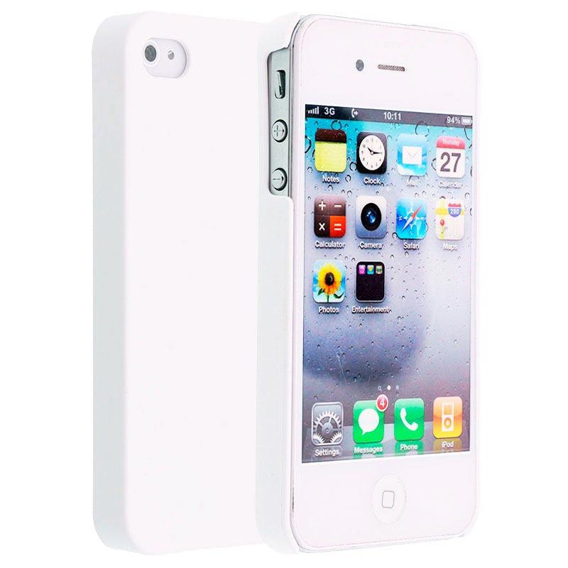 Coque Rigide Caoutchoutée Code iPhone 4 / 4S - Blanche