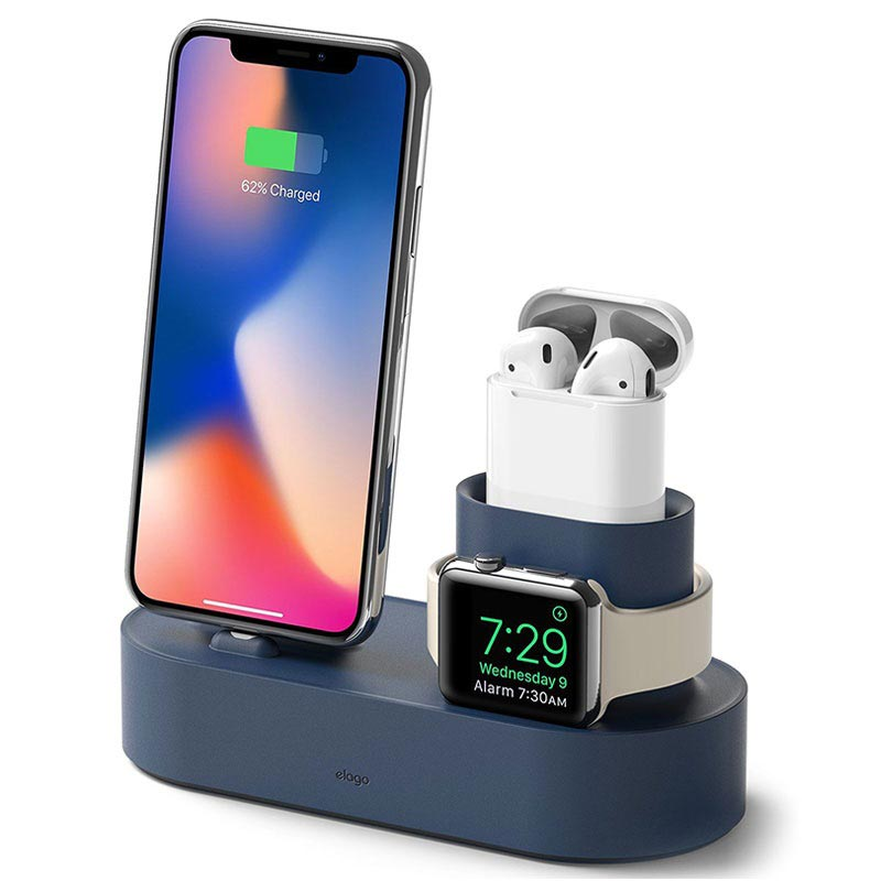 Station d\'Accueil Elago Trio pour iPhone, Apple Watch, AirPods