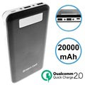 Batterie Externe Green Cell PB93 Qualcomm QC 2.0 - 20000mAh - Noire