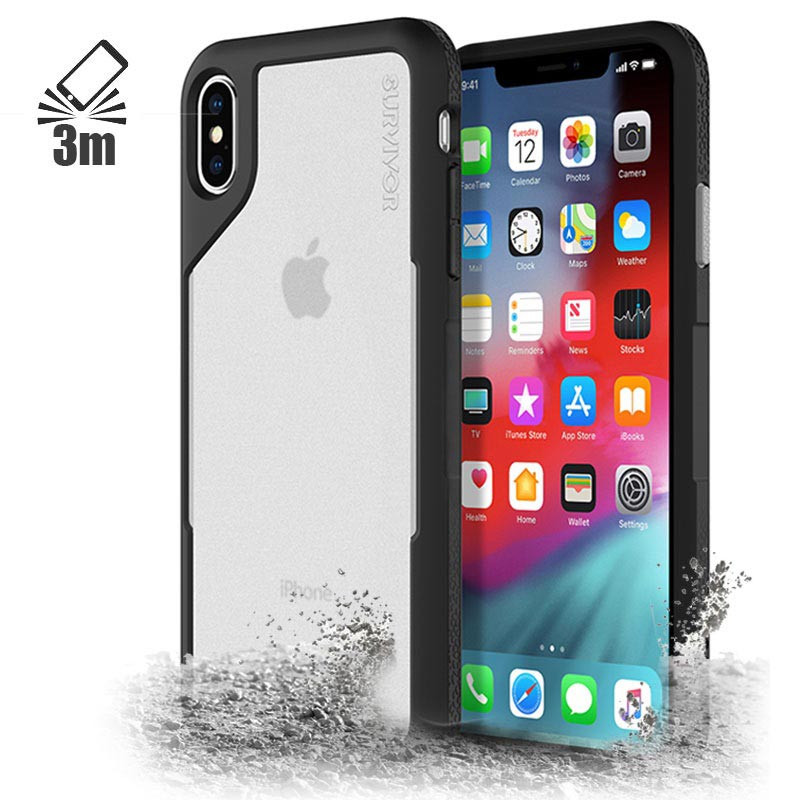 Griffin Survivor Endurance Case for iPhone XS Max Black Grey 0191058080271 20092018 01 p