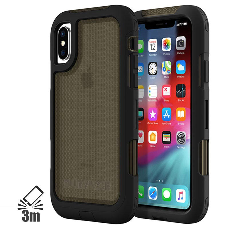 Griffin Survivor Extreme Case for iPhone XS Max Black Translucent Grey 0191058080240 20092018 01 p