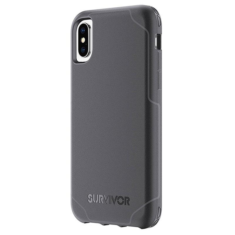 Griffin Survivor Strong Case for iPhone X Black Dark Grey 11102017 01 p