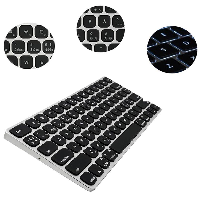 Clavier Sans Fil Kanex MultiSync Premium Slim pour Mac & iOS - Disposition nordique