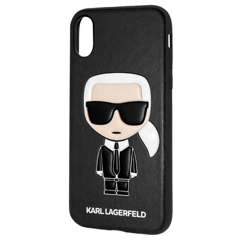 Karl Lagerfeld Ikonik Case for iPhone X iPhone XS Black 3700740414224 06102018 02 p
